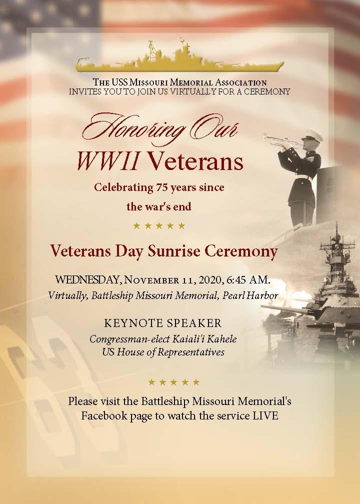 Veterans Day Sunrise Ceremony