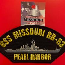 US NAVY USS MISSOURI TEXT HAT PIN BB-63